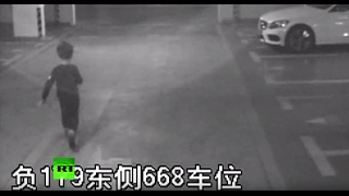 CCTV  6yo Chinese boy struggles to steal car, fails, runs back to mommy