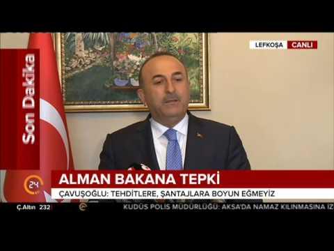 Dışişleri Bakanı Çavuşoğlu'ndan Almanya'ya tepki