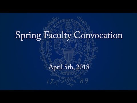 2018 Spring Faculty Convocation