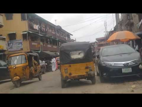 DRIVING DOWNTOWN LAGOS ISLAND NIGERIA