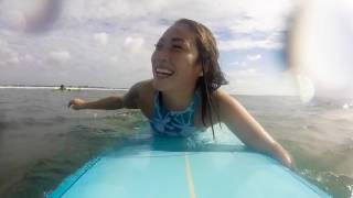 A day surfing with guest Ane Gyllstrøm at the Level 3 course in Bali