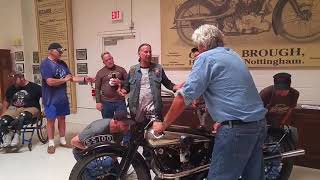 Jay Leno surprises vets with private tour of Jay Leno's Garage.