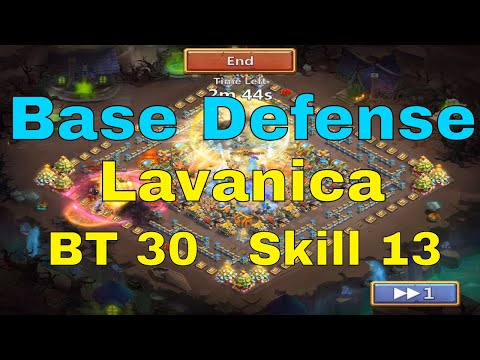 Castle Clash Base Defense With Lavanica At BT 30 And Skill 13