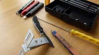 LANSKY Deluxe Sharpening System/Leather Stropping Hone *DEMO&REVIEW*