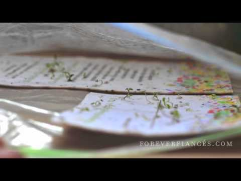 """""""Seeded Paper Wedding Invitations""""   by ForeverFiances.com"""