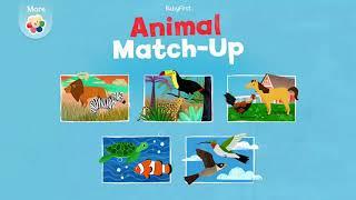 Матч -Часть 1 Животное  Ребенка Выучить Названия Животных   Смешные Животные Игры Для Дете