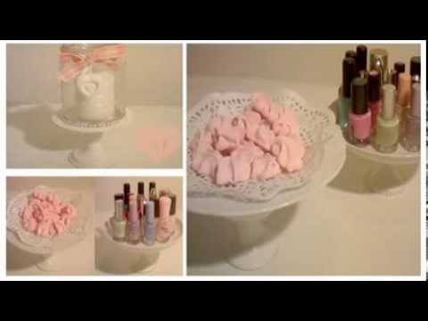 Diy alzatine per smalti dolci e candele youtube for Porta smalti fai da te