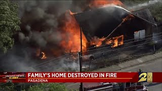Family's home destroyed in fire
