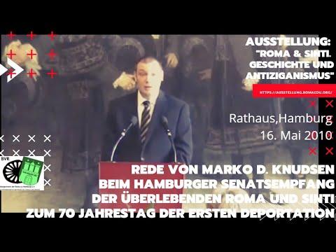 Rede von Marko D. Knudsen. Senatsempfang Roma und Sinti, zum 70 Jahrestag der ersten Deportation