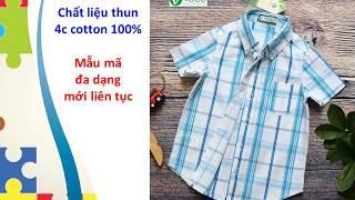 Sơ mi sọc ca rô của xưởng may quần áo trẻ em giá sỉ VECO đột phá mạnh mẽ trong Tết