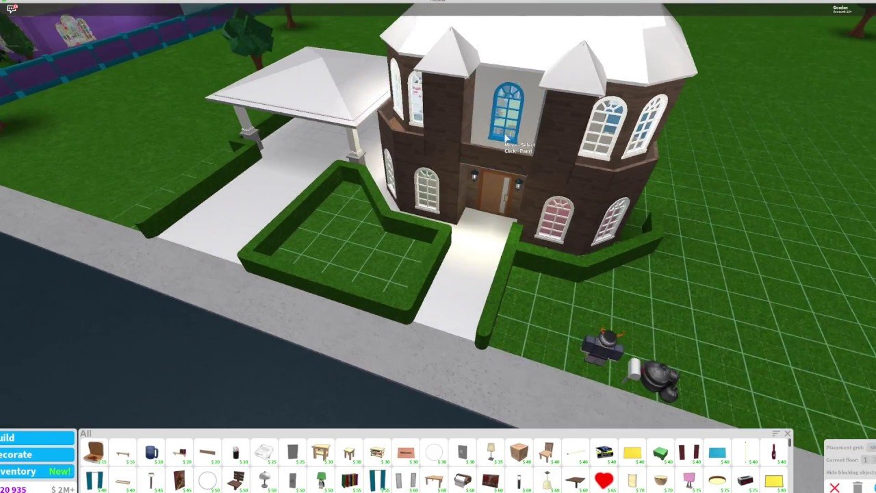 Bloxburg new starter house tutorial youtube for Can you build a house for 100k