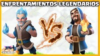 MAGO DE HIELO vs MAGO DE FUEGO - NUEVA SERIE: ENFRENTAMIENTOS LEGENDARIOS en CLASH OF CLANS