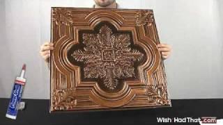 206 Style Ceiling Tiles - Antique Copper