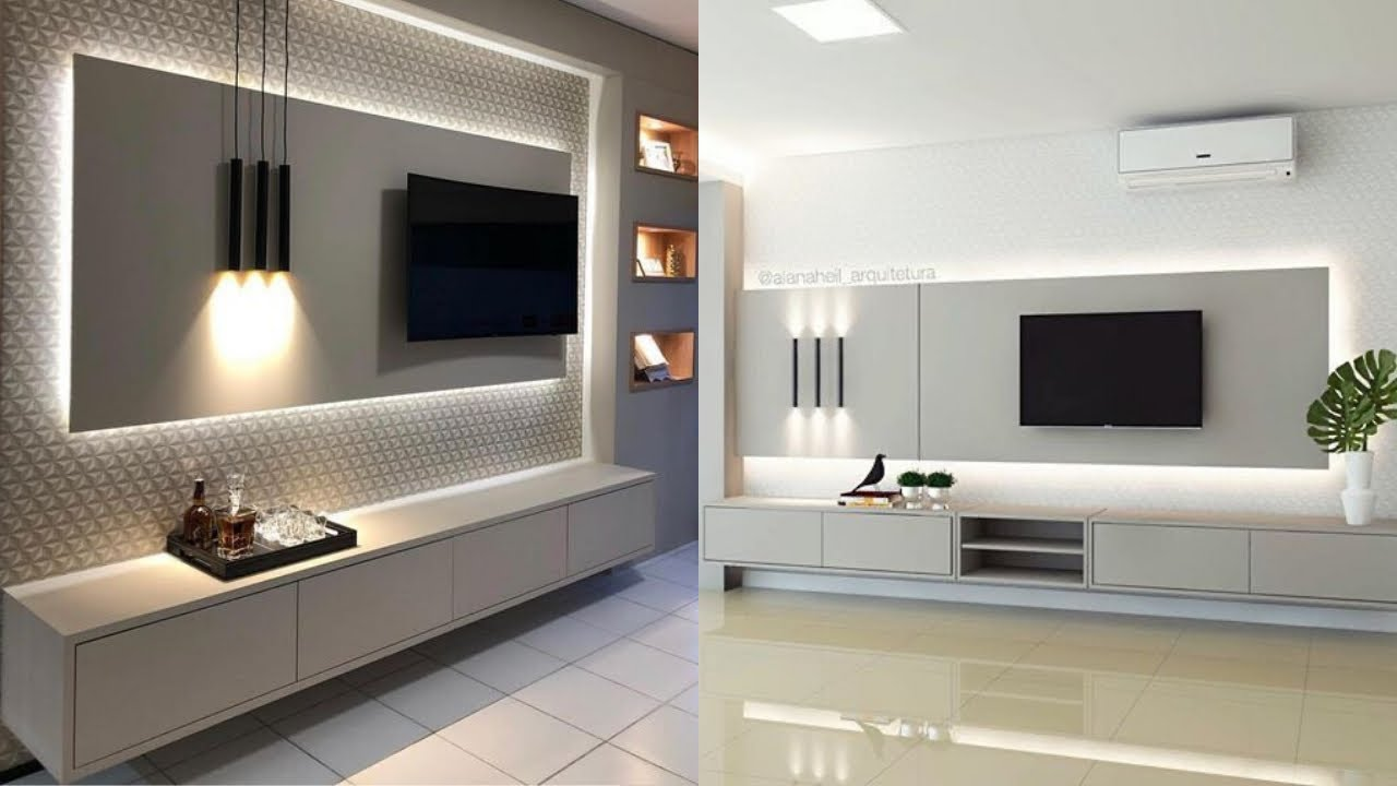 Lovely Modern Tv Wall Panel Design Ideas Youtube