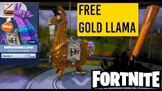 Fortnite Free Gold Llama 😱🤑🤑🤑