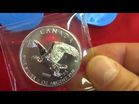 Silber kaufen, die Silbermünzen Falke und Weißkopfseeadler - nur 1 Mio. Auflage pro Münze
