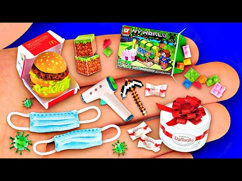 12 SIMPLE DIY MINIATURE REALISTIC THINGS FOR DOLLHOUSE BARBIE