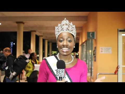 Jana Outerbridge Miss Bermuda Returns From Miss World November 10 2011