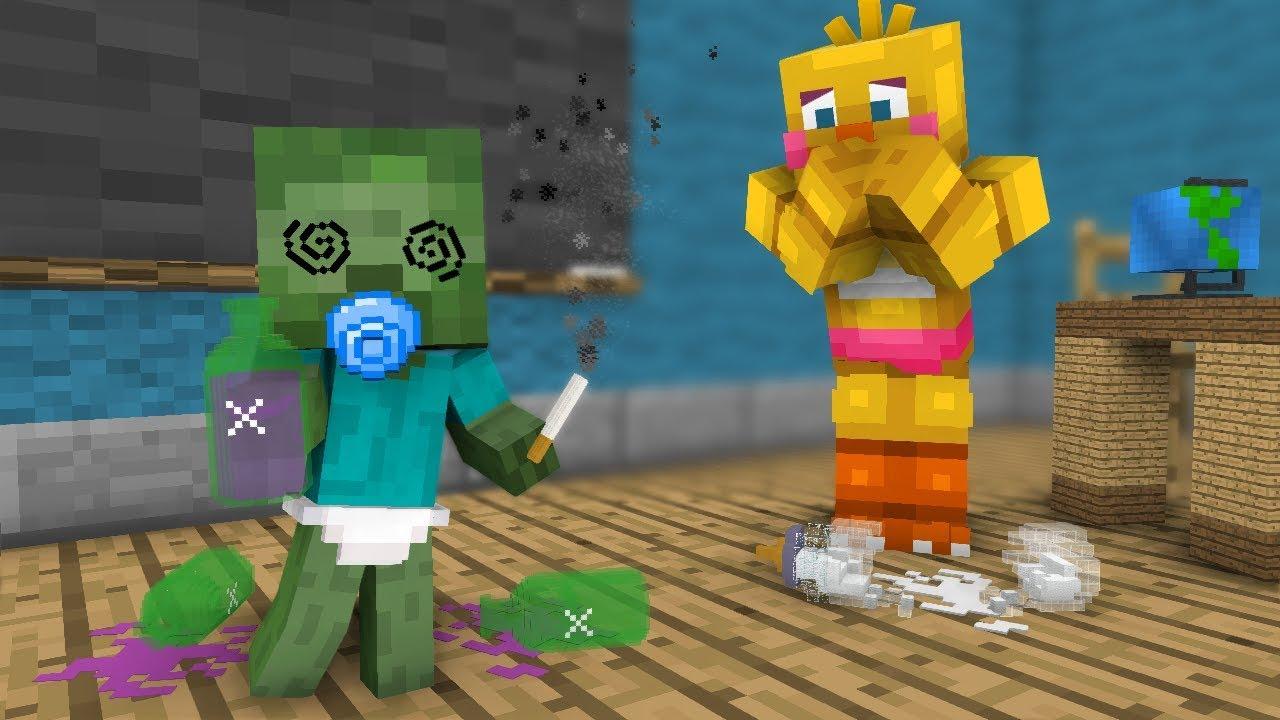 FNAF Monster School: Baby Zombie! - Minecraft Animation