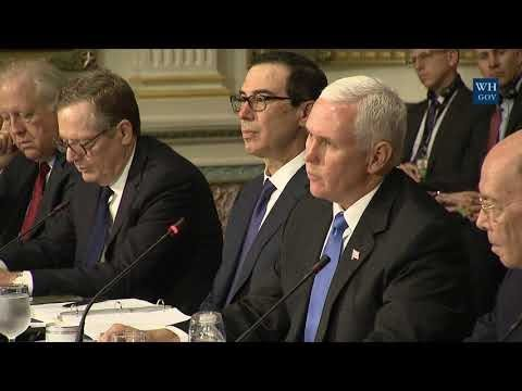 Vice President Pence Participates in a U.S.- Japan Economic Dialogue