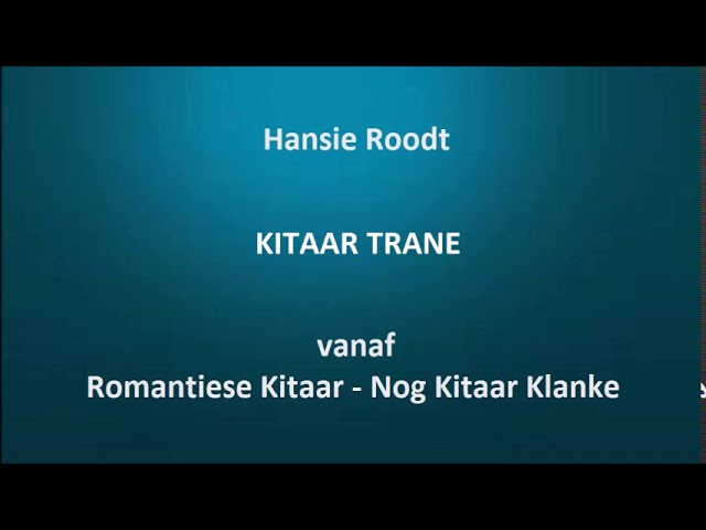 Hansie Roodt - Kitaar trane