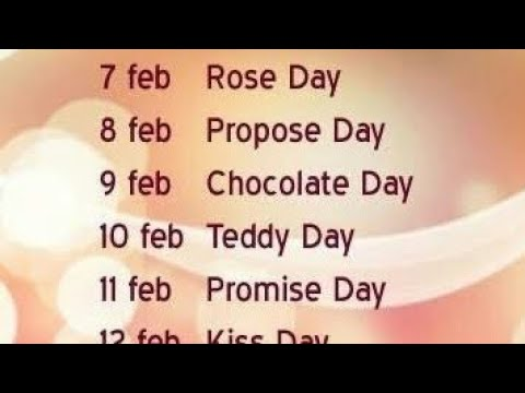 Valentine Day Week 2019 2020 2021 2022 2023 2024 2025 2026 2027 2028 2029 2030 2031 Youtube In this video you can watch full list of valentine week and valentine month of 2021. valentine day week 2019 2020 2021 2022