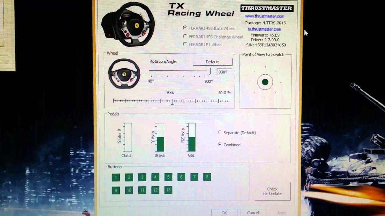 Thrustmaster TX broken calibration troubles