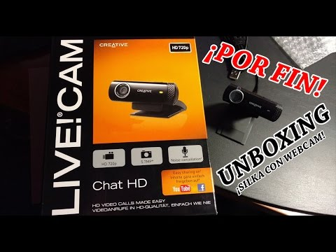 UNBOXING Creative Live!CAM Chat HD 720P