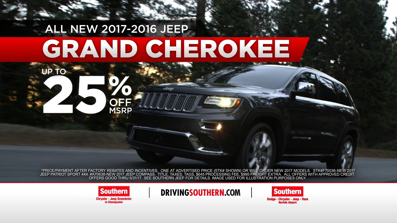 Jeep Incentives 2017 >> Southern Chrysler Jeep May Commercial