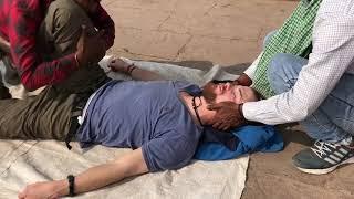 ASMR Indian Street Barber Four Hands Body massage @ Holi City (Varanasi) Ep#06