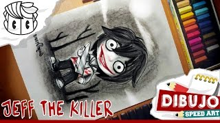 How to draw :  JEFF THE KILLER creepypasta ( Dibujo speed drawing - Dibujar )