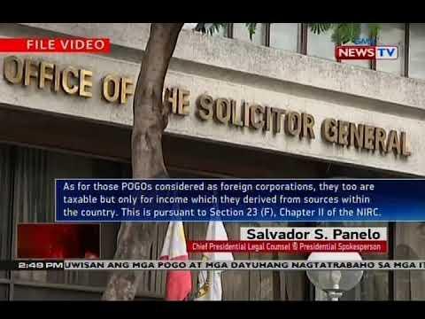 NTVL: Malakanyang, iginiit na dapat singilin ng buwis ang mga POGO ...