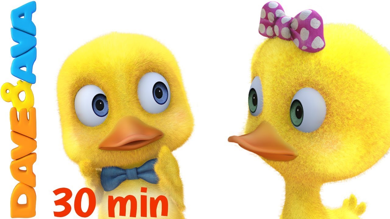 😋 Six Little Ducks | Nursery Rhymes and Kids Songs from Dave and Ava 😋