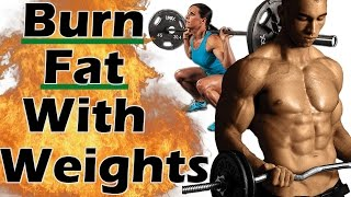 Top 10 Exercises - How to BURN FAT with Weight Training for WEIGHT LOSS | How to lose fat with weights | Lifting