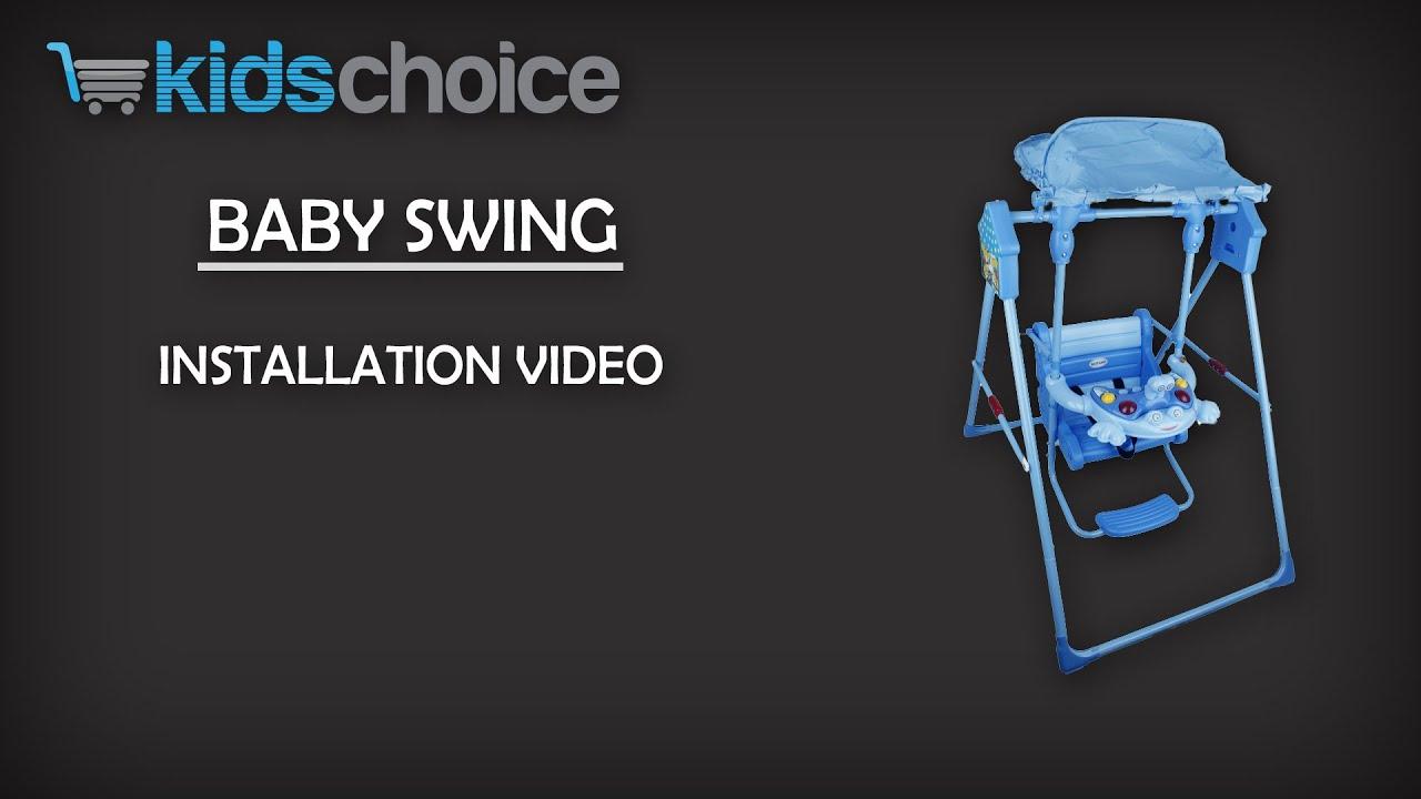 Baby Chair Swinging Model No Ts Bs 16 Folding Rack Wall Kids Choice Swing Installation Video Youtube