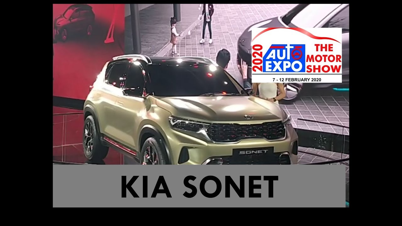 Kia Sonet Auto Expo 2020 360 Degree View Youtube