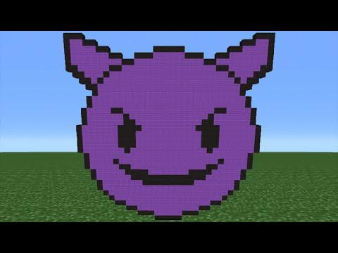 Minecraft Tutorial: How To Make A Purple Devil Emoji