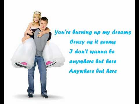 Hilaly Duff - Anywhere But Here (Ost. A Cinderella Story)Lyric
