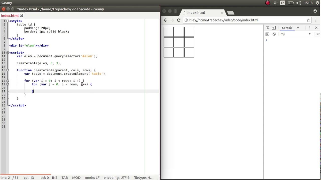 столбцов таблицы html количество