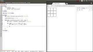 Функция для создания HTML таблицы на JavaScript