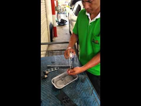 การล้างหัวฉีดแก๊ส NGV รถ Toyota Altis 1.6 E CNG