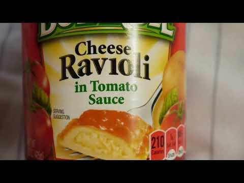 I eat Canned Cheese Ravioli with Shredded Cheddar Cheese