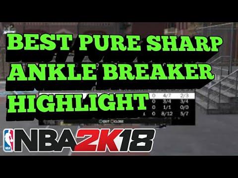 BEST PURE SHARP ANKLE BREAKER HIGHLIGHT | Playground | NBA 2K18