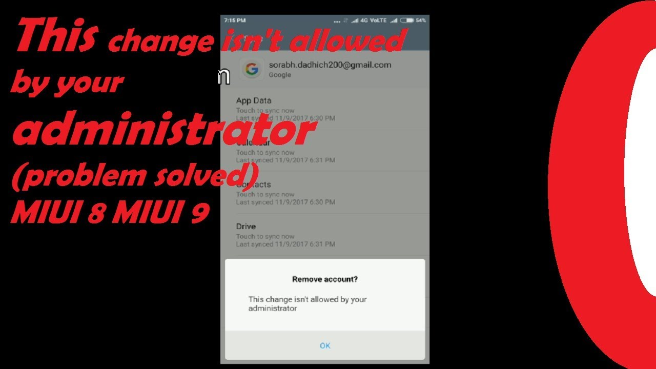this change isn't allowed by your administrator#MIUI problem solved