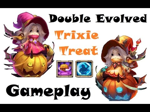 Double Evolved TRIXIE TREAT GAMEPLAY Devo Archdemon Awesome Maxed Hero Castle Clash Evolution