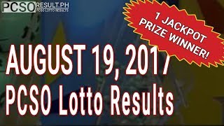 PCSO Lotto Results Today August 19, 2017 (6/55, 6/42, 6D, Swertres & EZ2)