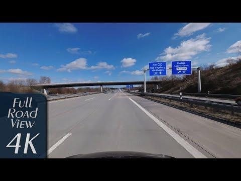 Schleswig-Holstein, Germany: Autobahn A1, Reinfeld - Lübeck-Zentrum - 4K (UHD/2160p/60p)