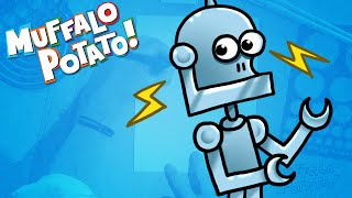How to Draw A ROBOT Using Letters and Numbers with Muffalo Potato