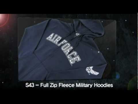 """""""Rapid Dominance"""" S43 - Full Zip Fleece Military Hoodies"""