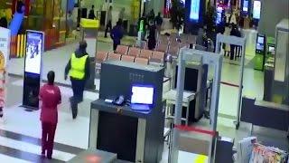 Пьяный водитель проехался на машине на сквозь аэропорт Казани